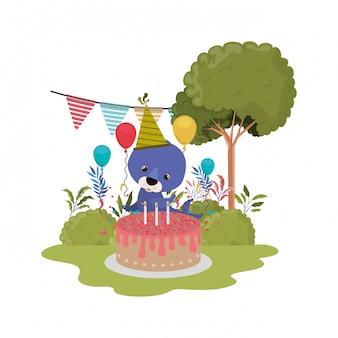Kaart van viering met zegel