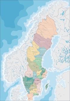 Kaart van zweden