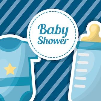 Kaart voor babydouche