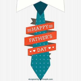 Kaart voor vaders dag met een stropdas