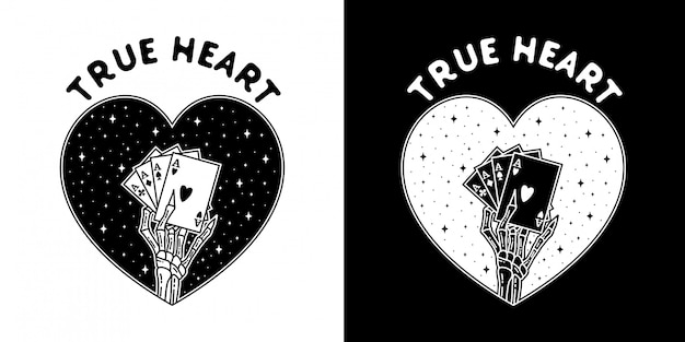 Kaart waar hart monoline love badge design