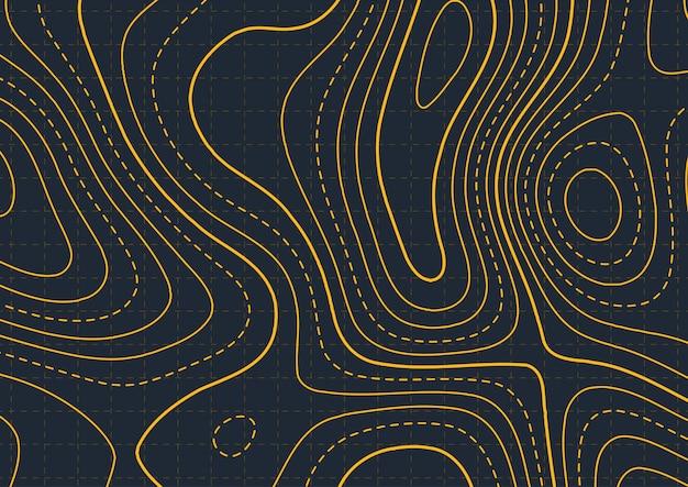 Kaartachtergrond met abstract topografieontwerp