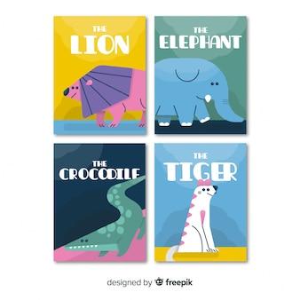 Kaartcollectie van wilde dieren