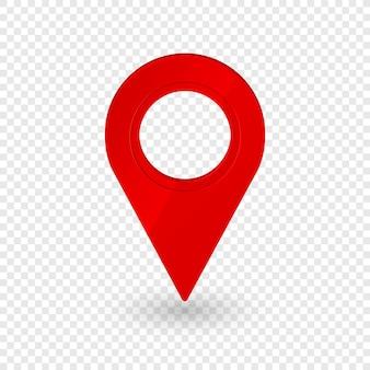 Kaartlocatieaanwijzer 3d-pijl navigatiepictogram voor webbannerlogo of badge 3d-stijl
