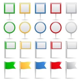 Kaartmarkeringen illustratie