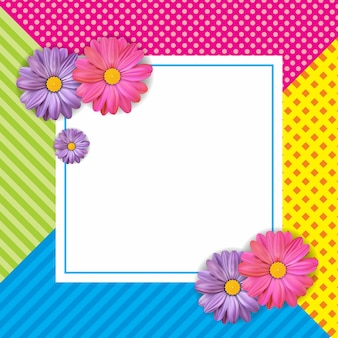 Kaartontwerp met prachtige kleurrijke bloem
