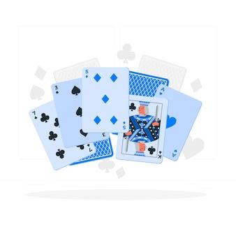 Kaartspel concept illustratie