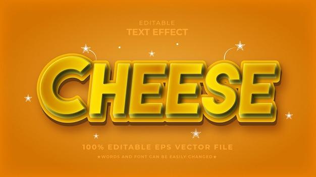 Kaas teksteffect bewerkbare voedselsjabloon
