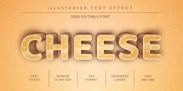 Kaas tekststijl, lettertype-effect
