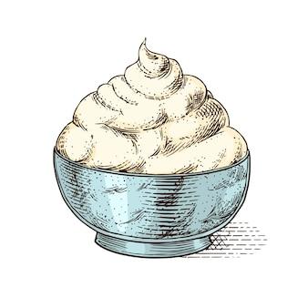 Kaasmascrapone voor op de markt of in de kruidenierswinkel