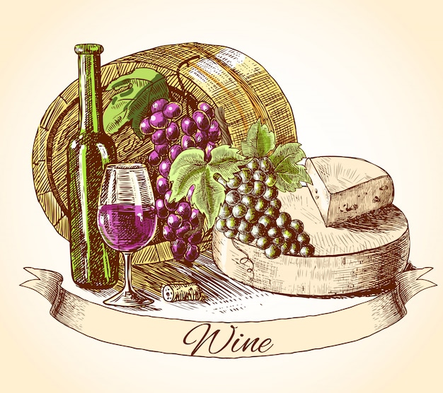 Kaaswijn en brood