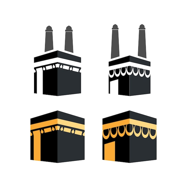 Kabah pictogram ontwerpset bundel sjabloon geïsoleerd