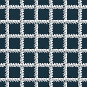 Kabel naadloos patroon, trendy vectorbehangachtergrond. koord met knopen stijlvolle eindeloze illustratie. bruikbaar voor stof. behang, verpakking, web en print