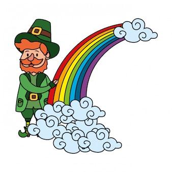 Kabouter met regenboog
