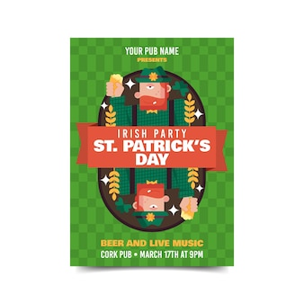 Kabouter ondersteboven st. patrick's day poster