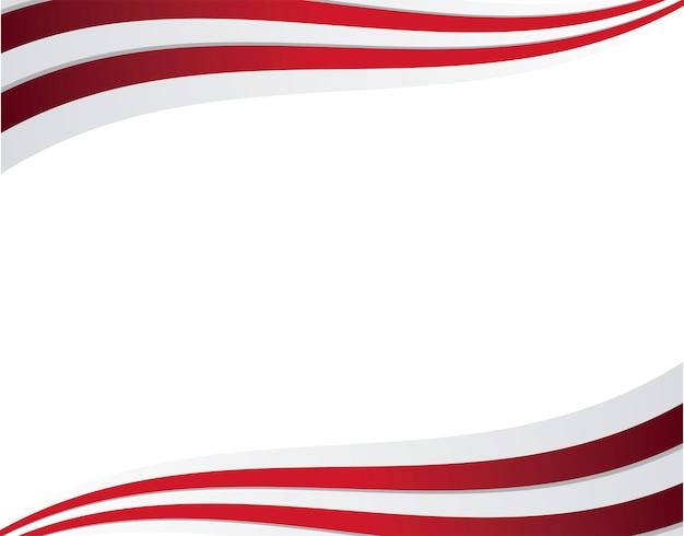 Kader van de amerikaanse vlag van de verenigde staten