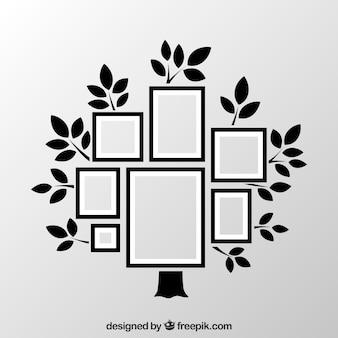 Kaders als collage op boom