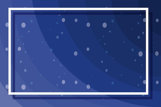 Kadersjabloon met bubbels op blauw