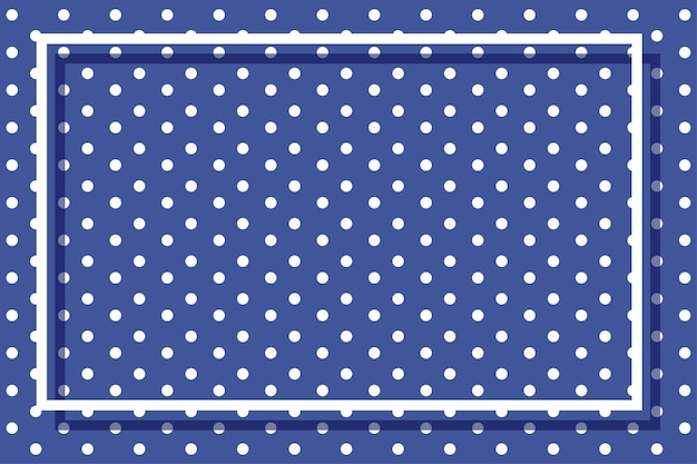 Kadersjabloon met stippen op blauwe achtergrond