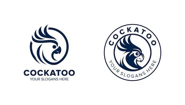 Kaketoe logo sjabloon in cirkel