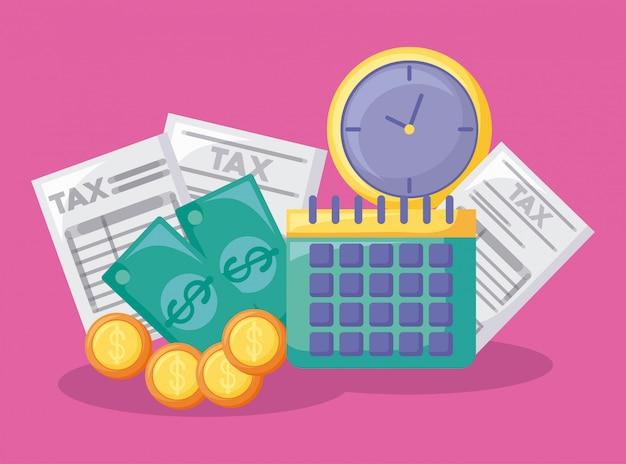 Kalender met economie en financieel