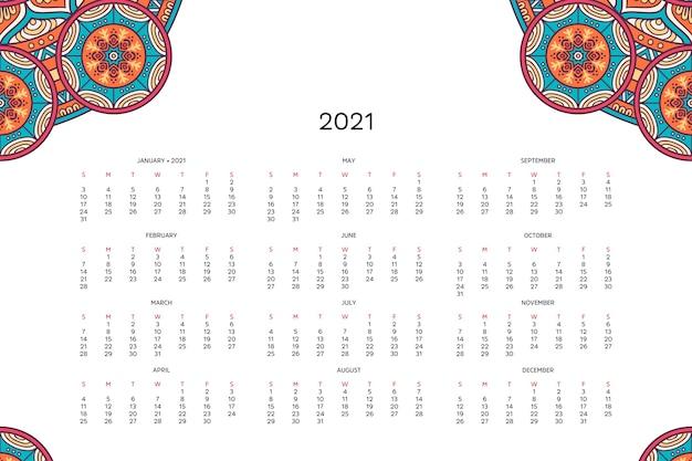 Kalender met mandala's.