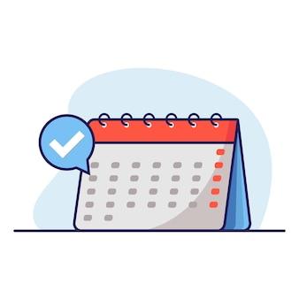 Kalender met plat ontwerp voor datumkiezer