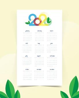 Kalender nieuwjaar 2020