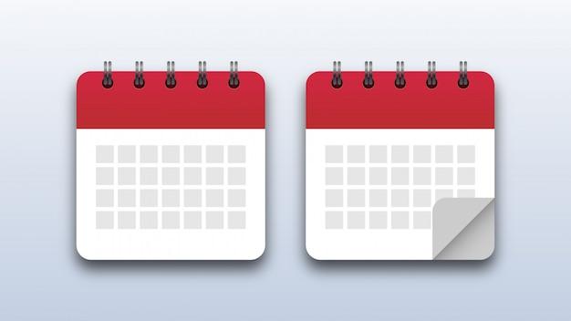 Kalender pictogrammen