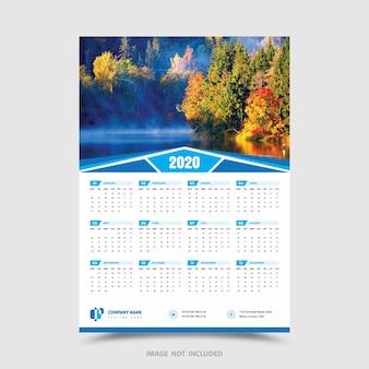 Kalender van één pagina
