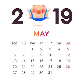 Kalender voor 2019.