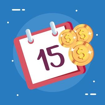 Kalenderherinnering met contant geld
