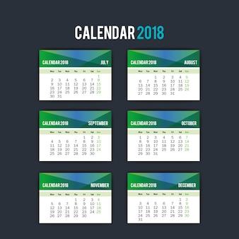 Kalendermaanden geïsoleerd pictogram