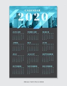 Kalenderplannersjabloon voor 2020.