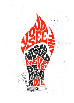 Kalligrafie met vlam