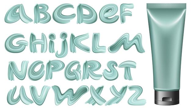 Kalligrafisch lettertype in paarlemoerverf en masker.