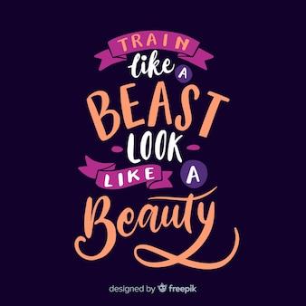 Kalligrafische achtergrond van een motiverende citaat
