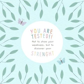 Kalligrafische achtergrond van een motiverende quote
