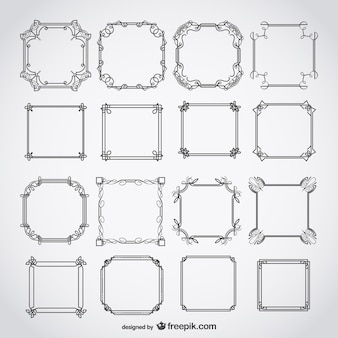 Kalligrafische deco frames