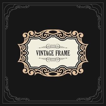 Kalligrafische elegante ornament frame