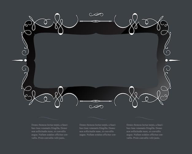 Kalligrafische framerand en websjabloon