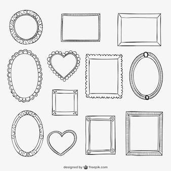 Kalligrafische frames collectie