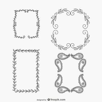 Kalligrafische frames pakken