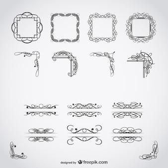Kalligrafische gratis vector kunst
