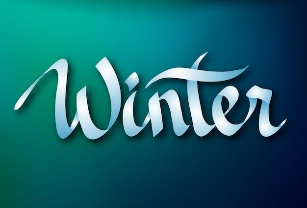 Kalligrafische inscriptie ontwerpconcept met elegant typografisch lint