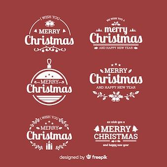 Kalligrafische kerst badges collectie