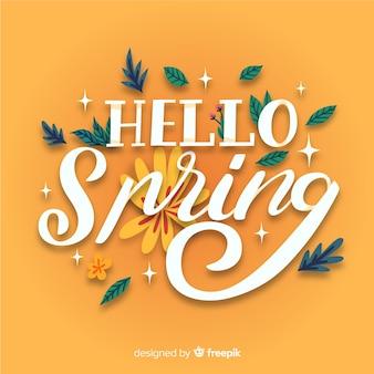 Kalligrafische lente achtergrond