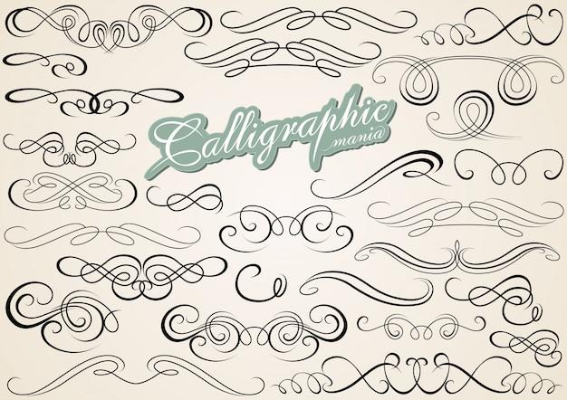 Kalligrafische ontwerpelementen