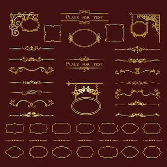 Kalligrafische ontwerpelementen.