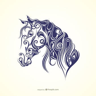 Kalligrafische paard